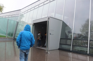 Entering the new enclosure