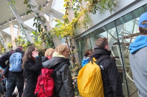 Enthusiastic guests indoors in the new enclosure
