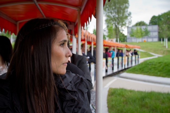 Train ride through the park
