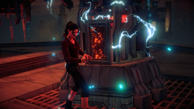 Another of the side quests is destroying power generators to take down shields