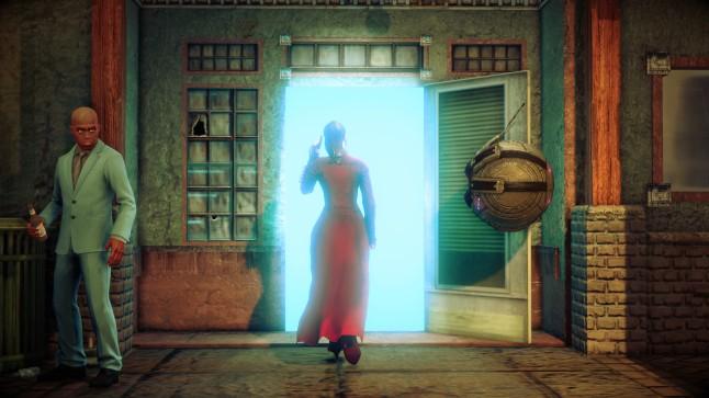Walk into the glowing door