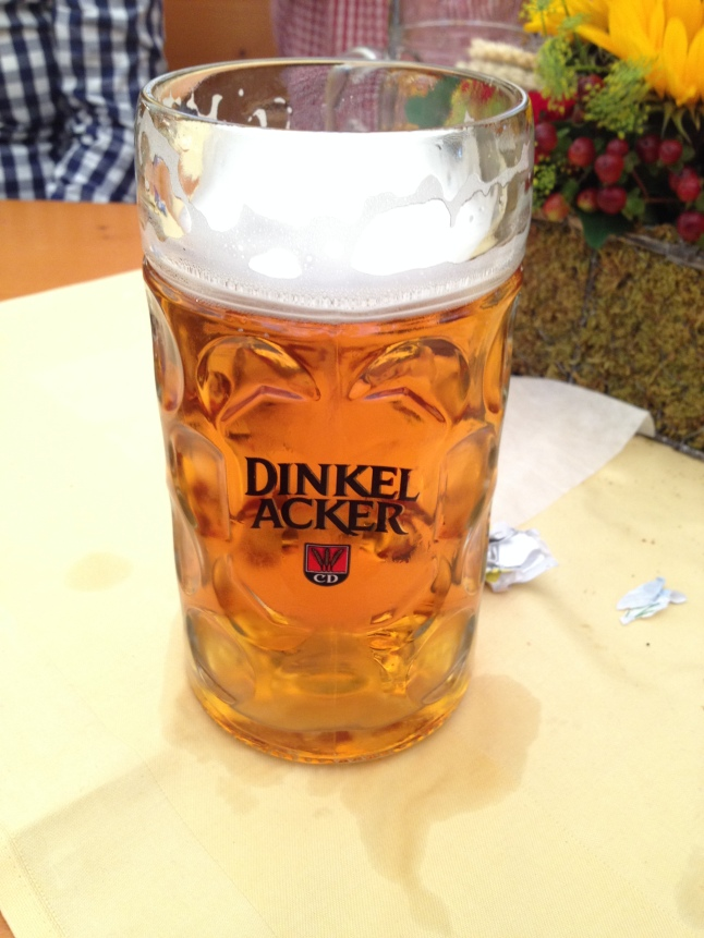 A maß (litre) of beer