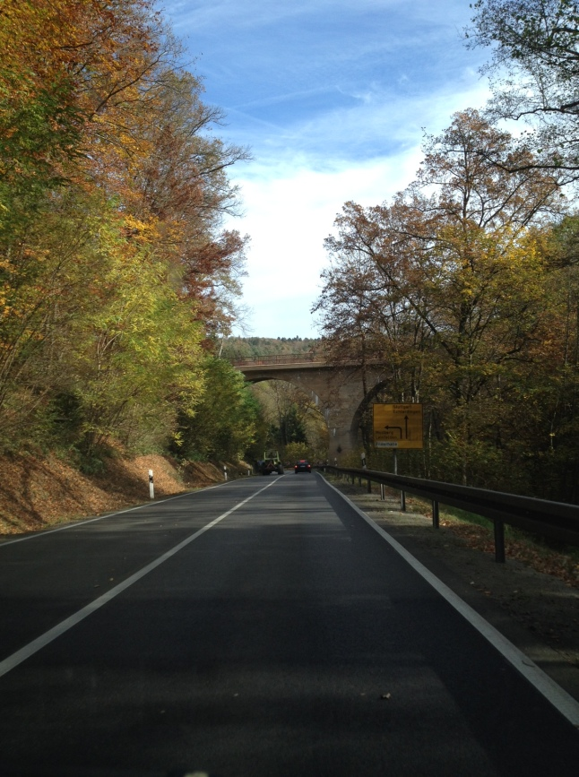 Driving in Germany in autumn