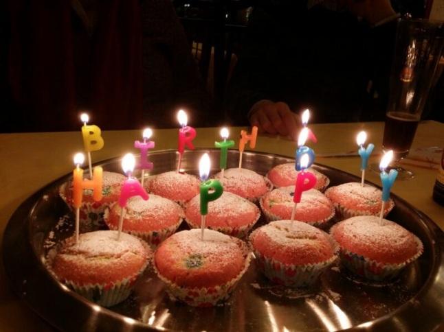 Rainbow Birthday Cupcakes