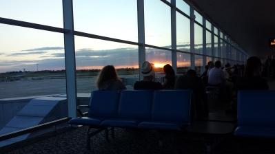 A nice sunset to farewell England.