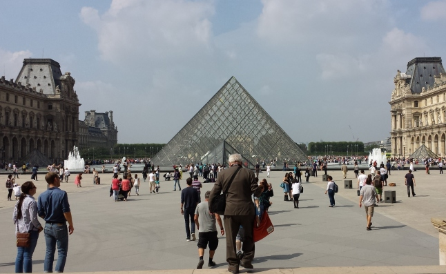 Walking by the Louvre
