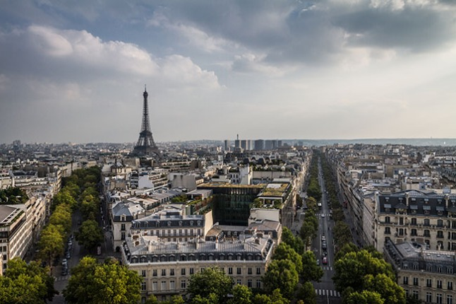 The view from Arc de Triomphe