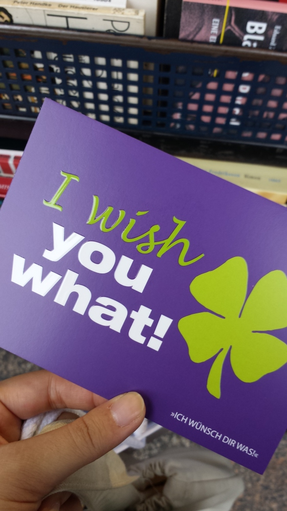 I wish you what!